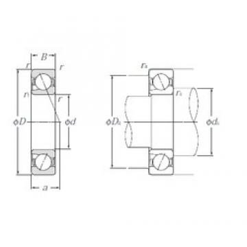 17 mm x 35 mm x 10 mm  NTN 5S-BNT003 Special design 60° contact angle Precision Bearings