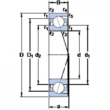 20 mm x 42 mm x 12 mm  SKF 7004 ACD/P4A Special design 60° contact angle Precision Bearings