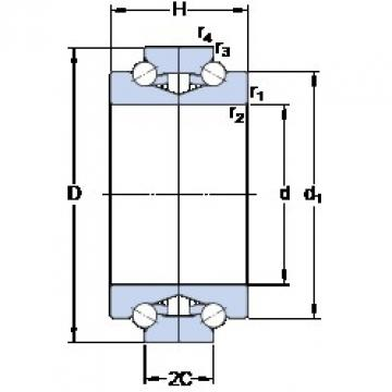 SKF BTW 140 CM/SP New polyamide cage Precision Bearings