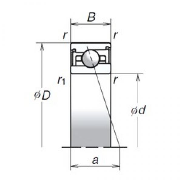 40 mm x 62 mm x 14 mm  NSK 40BER29HV1V Special design 60° contact angle Precision Bearings #2 image